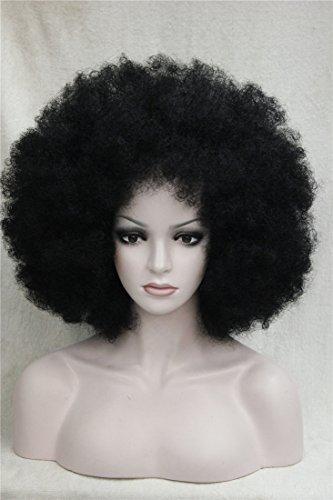 r Afroperücke Afro Curly Kinky Perücke für Party Karneval Kostüm(Braun) (Afro Halloween-kostüm)