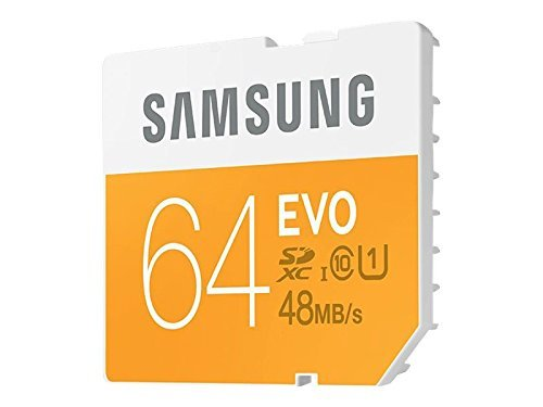 Samsung Micro SDXC Memory Card 64GB EVO Class 10 MB-MP64DC with USB 2.0 Reader  available at amazon for Rs.10750