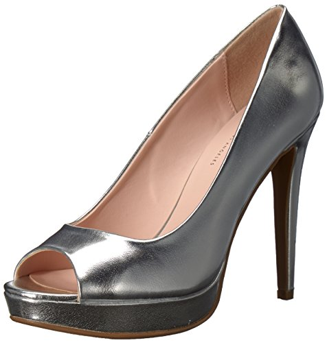 Jessica Peep Toe Pumps (Chinese Laundry Damen Holliston Silber/Metallic 38.5 M EU)