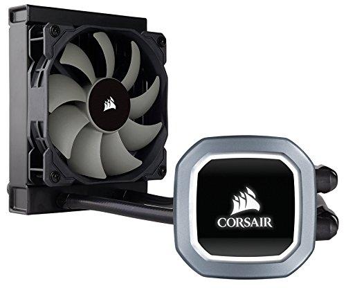 Corsair Hydro H60 Sistema di Raffreddamento a Liquido per CPU, Ventola PWM Singola, Bianca LED, All-in-One Liquid CPU Cooler, Radiatore da 120 mm, Nero