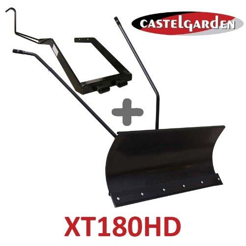 Lame à Neige 118 cm Noire + adaptateur pour Castelgarden XT180HD