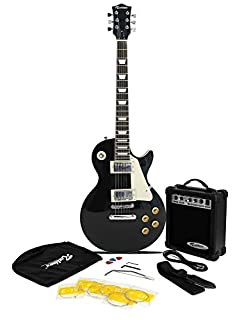 Rockburn LP2 Style Guitar Package (Include 10 W Amp, Gig Bag, Strings, Strap, Lead and Picks) - Black (B002S0NOJY) | Amazon price tracker / tracking, Amazon price history charts, Amazon price watches, Amazon price drop alerts