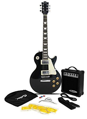 rockburn-lp2-style-guitar-package-include-10-w-amp-gig-bag-strings-strap-lead-and-picks-black