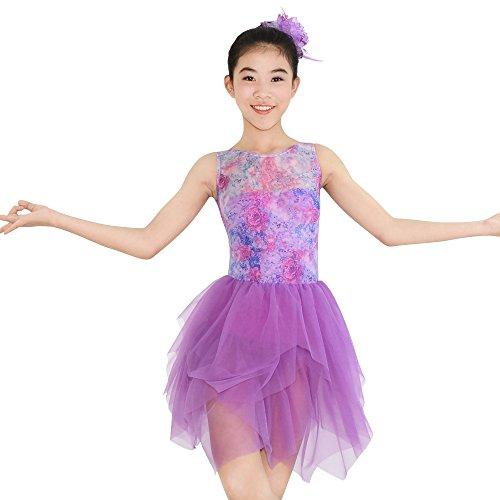 er Tank Top Lyrisches Kleid Tanz Kostüm (Lila, LC) (Tanz Kostüme Lyrischen)