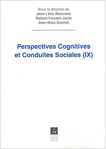Perspectives cognitives et conduites sociales : Volume 9