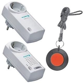 Pflegeruf-Set / Hausnotruf / Senioren-Hausalarm / Senioren-Sicherheitspaket 8 - für höhere Reichweiten (mit Funk-Halsbandsender und Steckdosen-Empfänger)