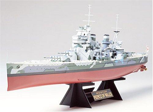 Tamiya 300078011 - nave da combattimento britannica della seconda guerra mondiale prince of wales, scala 1:350