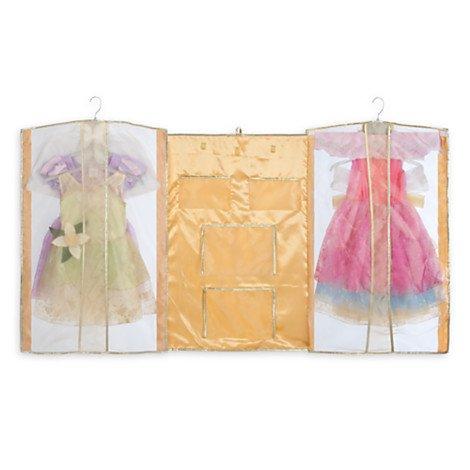 Disney Prinzessin Abendkleider - Kostümkleider (5er-Set) - Goldene Kleidersack beinhaltet Tiana, Aurora, Rapunzel, Belle, Cinderella Kostüme - 7 - 8 Jahre