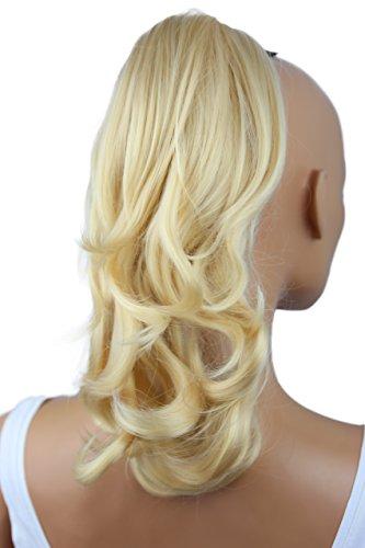 ses Haarteil Hair Piece Pferdeschwanz Zopf Ponytail ca 35cm diverse Farben (platinblond H84_613) ()