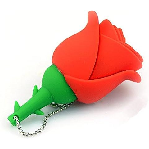 Elite Protezione ad Alta Velocità Pen Drive in colorato a forma di rosa Red 64 Gb