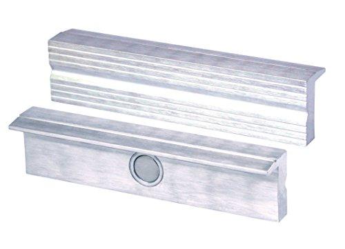 Heuer 110100 Schraubstockbacken (Schutzbacken rechtwinkelig; planparallel; integrierte Spezialmagnete; passend zu Schraubstock 100 mm; Material: Aluminium), integriertekk,