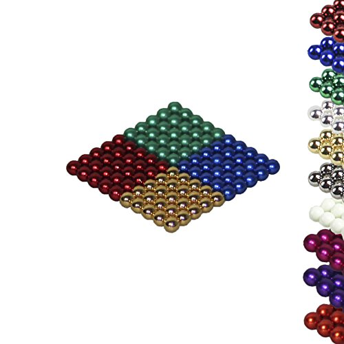 Mag-Balls Viele Farben: 100 Magnetkugeln 5mm Neodymmagnet Supermagnet Instudriemagnet: NdFeb 38 (Gold-Grün-Blau-Rot)