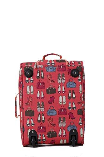 5 Cities Cabin Handgepack Leicht Trolley Taschen 42L (1 Stück, Taschen und Schuhe - Schwarz) Orange