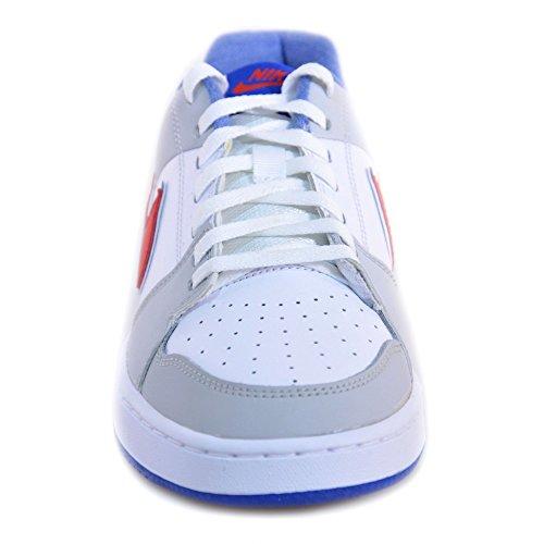 Nike - Nike Backboard 2 (GS) Scarpe Bianche Grigie Pelle 488300 Blanc