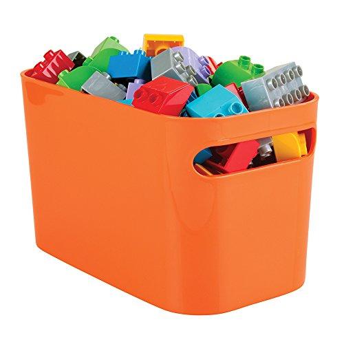 Achat mDesign boîte de rangement pour salle de bain – bac de rangement pour shampooings, serviettes, parfums, etc. – convient aussi comme organiseur de cosmétiques – lot de 2, couleur: orange