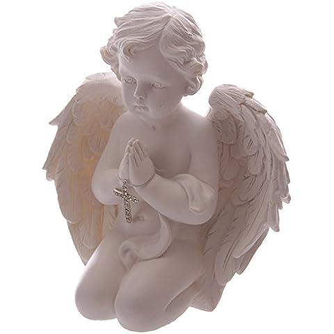 Praying con angelo cherubino Holding Cross 16,5 cm, decorazione della mamma, nonna Gran