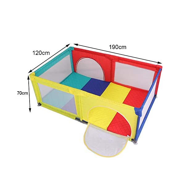 Playpens Portable Play Yard, Indoor Baby Safety Game, Nursery Center Infant Crawl Play Area, with Mat and Balls Playpens  2