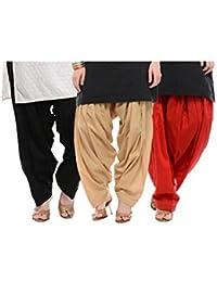 Sri Belha Fashions Womens Cotton Salwar Bottom (SBF-W-2218 _Mulit-Coloure _Free Size) Set Of-3Pcs
