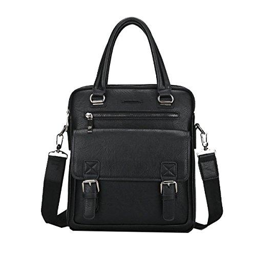 Yy.f Explosive Neue Männer Business Aktentasche Mode-Taschen Mehrzweck- Portable Schulter Kurierbeutel Computerbeutel Boutique Farbe 3 Black