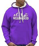 Walking dead - Zombie evolution - BICO Hoodie Sweatshirt mit Kapuze lila-weiss Gr.M