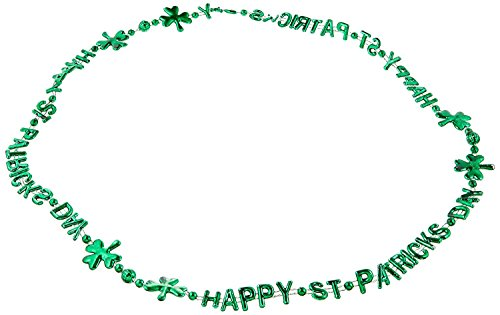 (Beistle Party Dekoration St Patrick 's Day Beads-of-Expression 91,4cm-12Stück)