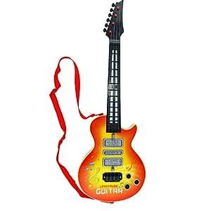 4 stringhe musica chitarra elettrica, Shayson chitarra elettrica bambini bambini bambino musicale strumenti educativi giocattolo regalo per bambino infante (giallo)