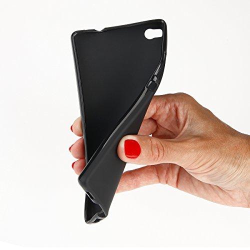 Bumper Coque Case Effet Mat pour iPhone 7Noir handywelt-niefern Coque de protection élastique en silicone TPU Coque noir