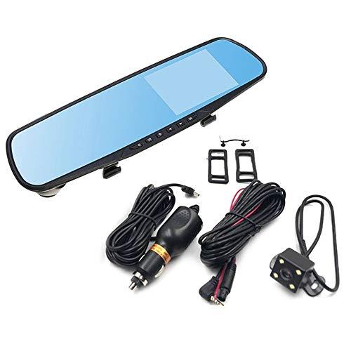4-Zoll-Display 1080P HD Dual Lens Auto DVR Portable Dash Kamera Fahrzeug Monitor Dash Cam Auto Recorder Rückspiegel Portable Dvr