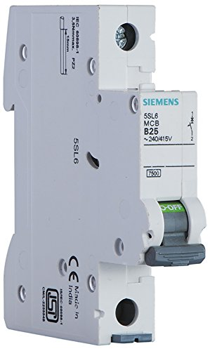 Siemens 10A 1 Pole Miniature Circuit Breaker (White, 1-Piece, 5SL61107RC)  available at amazon for Rs.151