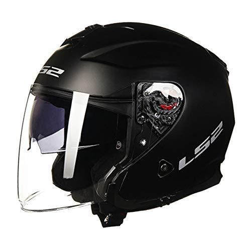 Berrd Casco moto aperto scooter solido nero opaco XL