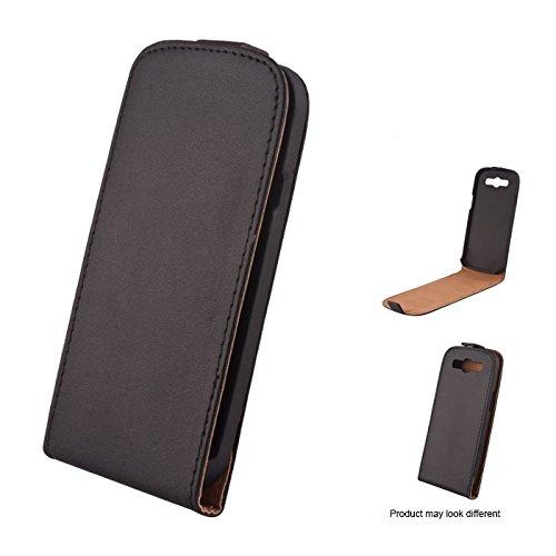 Mobility gear Custodia Tipo Pelle Slim per LG Optimus 4X HD P880, Nero