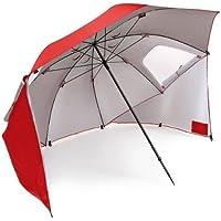 SportBrella - Mobiliario de camping de acampada y senderismo, diámetro 2.4 m, color rojo