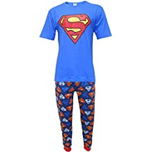 Superman DC Comics Hombres Logo Set de Pijama de Dos Piezas
