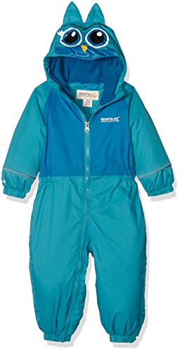 Regatta Kid 's Gefütterter Regenanzug II All-In-One Garment – enamelin/petrol B, Größe 12–18