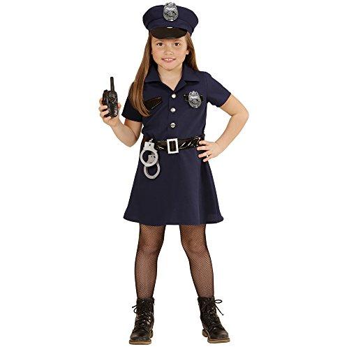 Widmann 49086 - Kinderkostüm Polizistin, Kleid, Gürtel, Hut, -