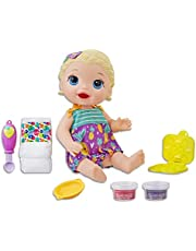 Baby Alive Snacking Noodles Baby doll Blonde, Toy Doll for 3 Year Old and Up