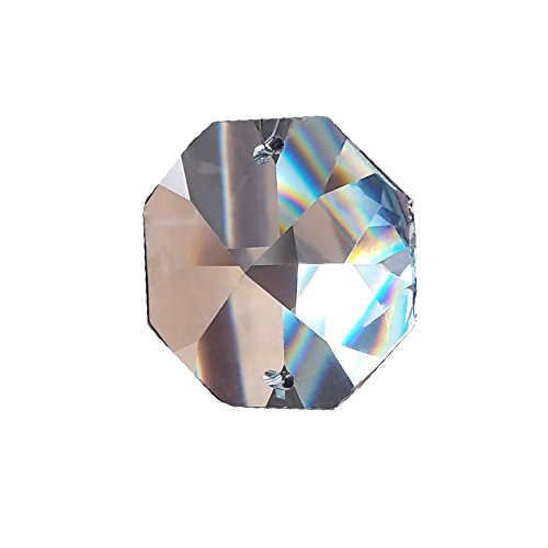 Cristallo koppen 32 mm 2-fori 4 pz ottagono ottagonale arcobaleno cristallo - feng shui - esoterica - finestre - gioielli 30% pbo piombo cristallo - cristallo sfaccettato riccamente - ornamento - lampadario con ornamento - poligono - octagon