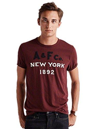 BOMOVO Herren Originals AF T-Shirt Kurzarmshirt Print-Shirt Rot