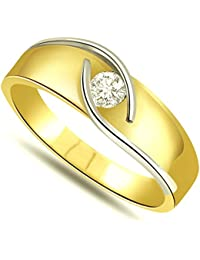 SURATDIAMOND 18k (750) Yellow Gold And Diamond Solitaire Ring - B01N06BV14