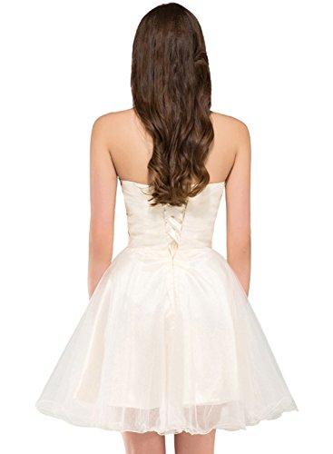 AZBRO Damen Elegant One Shoulder Prom Kleid White