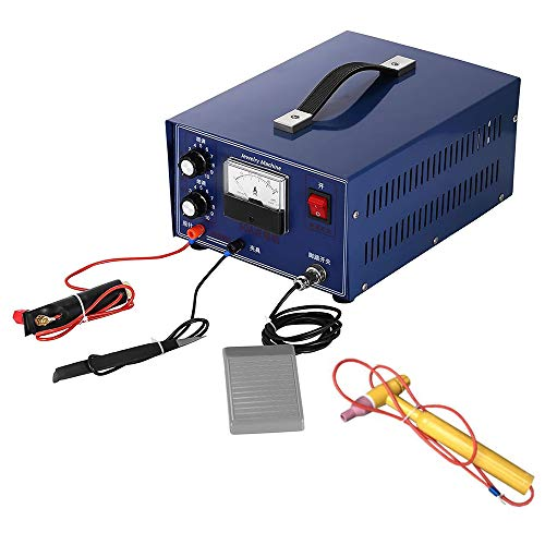 HUKOER 400W Mini Punktschweißgerät Gold Silber Schmuck Laserschweißgerät mit Griffwerkzeug (Schmuck-schweißer)