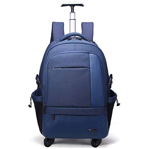 EAQDWS Herren Rollgepäck Rucksack Tasche Rad Reisetrolley Pack Rollrucksack Business Cabin Reisetrolley Gepäck-Blue - Wheeled Backpack Gepäck