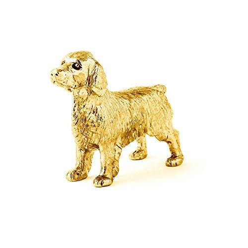 Welsh Springer Spaniel Hergestellt in U.K. Kunstvolle Hunde- Figur Sammlung (22 Karat Vergoldung / gold plattiert) (Hund-figur Springer Spaniel)