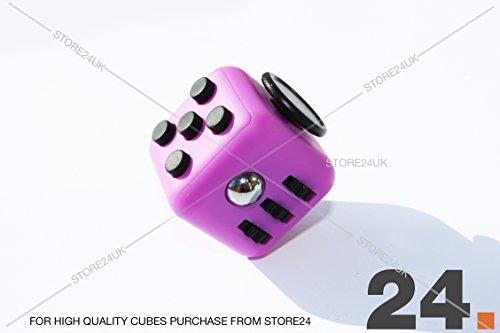 Fidget Cube 1Pcs 6-side Toy Stress Relief For Adults Children 12+ HIGHEST QUALITY (Purple)
