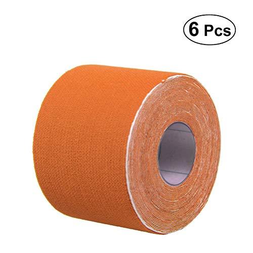SUPVOX 6 stücke Kinesiologie Tape Therapeutische Sport Tape Precut Roll Kinesio Tape für Knie Schultern Muscle Support 500x2,5 cm