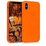 kwmobile Apple iPhone XS Hülle - Handyhülle für Apple iPhone XS - Handy Case in Neon Orange