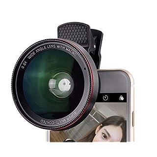 proxima13in 1Handy Objektiv, Fischaugen 180° Objektiv + 10x Macro Objektiv + 0,4x Weitwinkel-Objektiv, professionelle HD Kamera-Objektiv-, Clip auf Smartphone, für iPhone 7/7Plus/6/6S Plus/SE, LG, HTC, Huawei, Samsung und andere Smartphone