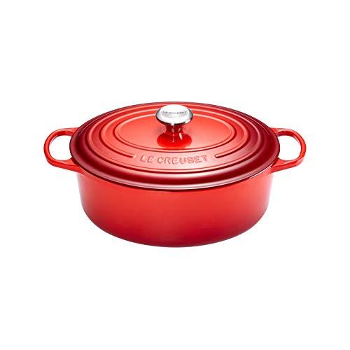 Le Creuset 21178170602430 Fuente Signature Oval 17 cm, Rojo