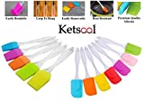 Ketsaal Silicone Spatula and Pastry Brush Set (Big) - for Cake Mixing, Decorating, Cooking, Baking, Glazing, Barbeque