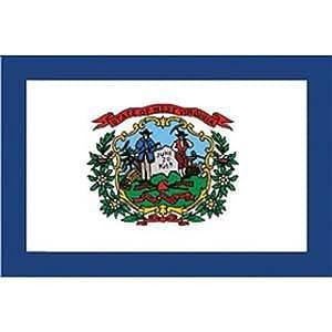 Findingking Halsketten West Virginia Flagge auf Stick 10,2x 15,2cm